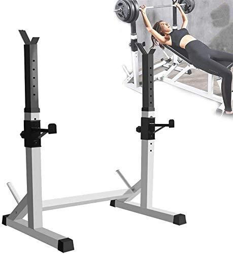 DAGCOT Sentadilla Banco Free Press Soportes Home Gym Fitness Cuclillas Soportes, Pesado Peso de elevación del Estante, Capacidad de Carga de hasta 250 Kg, Equipo de Entrenamiento de Potencia