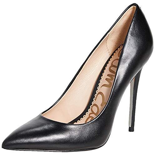 Sam Edelman Women's Danna Pump Black Leather 5.5 Medium US