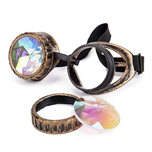 Kaleidoscope - Gafas de esquí, diseño vintage -  -  Talla única