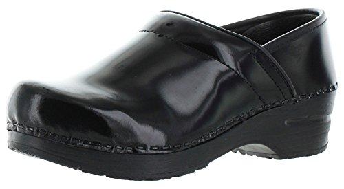 Sanita Patent Black in Patent Leather