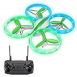 EACHINE E65H Mini Drone para Principiantes Función Flotante Modo sin Cabeza Rotación de 360° Despegue / Aterrizaje con un Botón, Velocidad Ajustable Verde