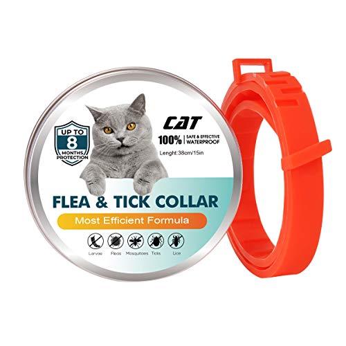 FVAL Collares Antiparasitario para Perros Y Gatos – Collares Antipulgas Y Garrapatas, TamañO Ajustable E Impermeable,Repelente De Insectos Natural Aceite Esencial Collar para Mascotas