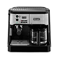 One machine does it all: One side makes authentic 15-bar espresso, cappuccino and latte, while the other side brews exceptionally delicious coffee. Flavor savor brew system: De'longhi's patented coffee brewing system extracts maximum flavor and aroma...