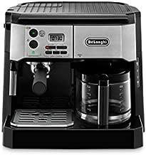 De'Longhi BCO430BM All-in-One Combination Maker & Espresso Machine + Advanced Milk Frother for Cappuccino, Latte & Macchiato + Glass Coffee Pot 10-Cup