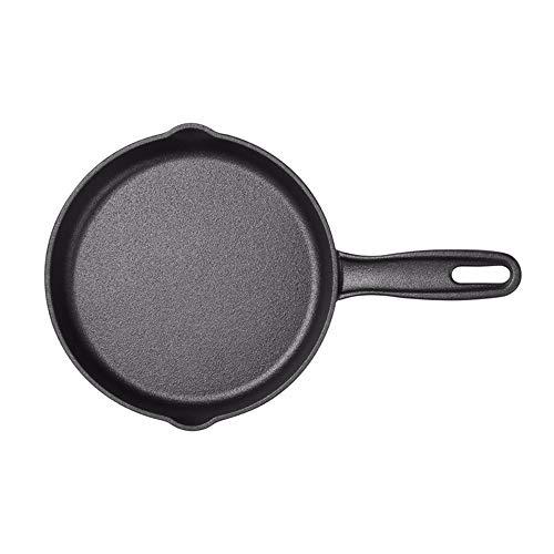 ZXAOYUAN Mini sartén portátil de freír Huevo escalfado Tortilla de Tortilla de Hierro Puro Recubrimiento de la Cocina pequeña Cocina pequeña 21 cm