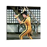 SHADIAO Retro-Poster von Bruce Lee, The King of Kung Fu