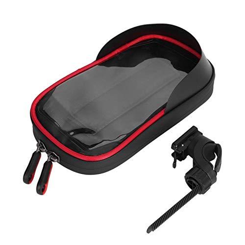 Cubierta de lluvia a prueba de polvo Mochila extensible Ciclo Bolsa de almacenamiento para mujeres y hombres Universal Ciclismo y Pesca Amantes (Soporte C - Negro Rojo)