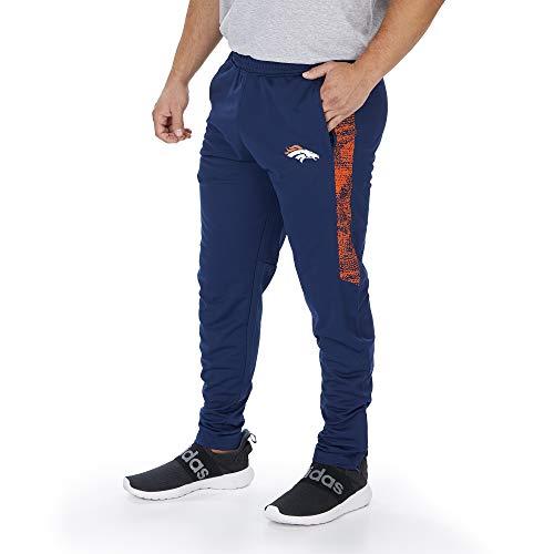 Zubaz NFL Denver Broncos Herren-Trainingshose mit statischen Halbeinsätzen, solides Marineblau, Größe XL