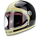 casco retro integral moto