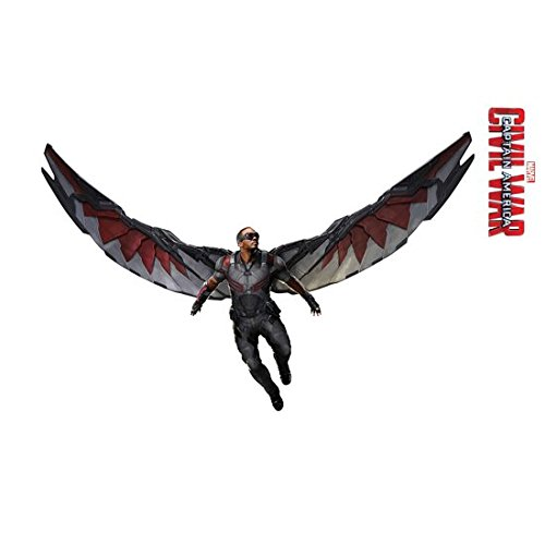 Anthony Mackie/Falcon 8 Inch x 10 Inch photograph Captain America Civil War The Winter Soldier The Avengers Age of Ultron Action Flying Wings Extended Title at Right kn
