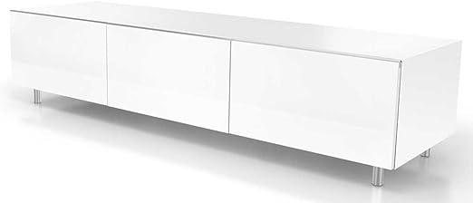 Just Racks Tv Mobel Holz Weiss 48 X 165 X 38 Cm Amazon De Kuche Haushalt