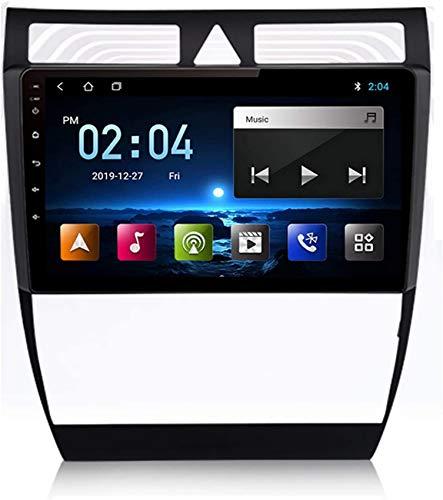 Android 10 Reproductor DVD para automóvil Unidad principal radio Compatible con Audi A6 C5 1997-2004 Navegación GPS Estéreo Lente 9 pulgadas Pantalla táctil Dash Cam 1080P Grabadora tablero instrume