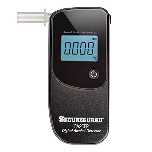 Secureguard BAC Portable Breathalyzer - CA 20FP Digital Alcohol Detector | Alcohol Tester with Digital Display Breath Analyzer for Personal & Professional Use | Mouthpiece and Battery Included