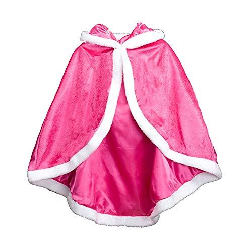 Princesa Capa con Capucha Niñas Disfraces para Carnaval Cosplay Halloween Cumpleaños Fiesta Navidad
