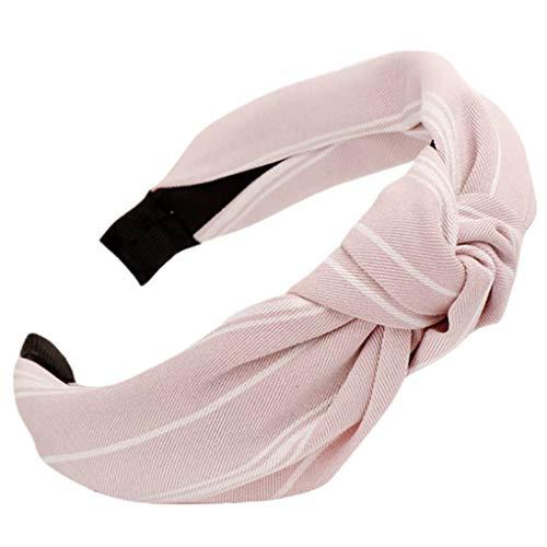 Dorical Haarband Yoga Headband Hairband Damen Stoff Haarreif mit Schleife-Vintage-Wunderschön Stirnband,Haarschmuck Haarreif mit Schleife-Vintage-Wunderschön Stirnband (One Size, Z012-Rosa)