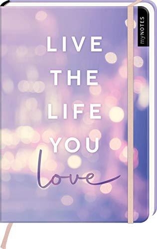 myNOTES Notizbuch A5: Live the life you love: Notebook medium, dotted - für Träume, Pläne und Ideen / ideal als Bullet Journal oder Tagebuch