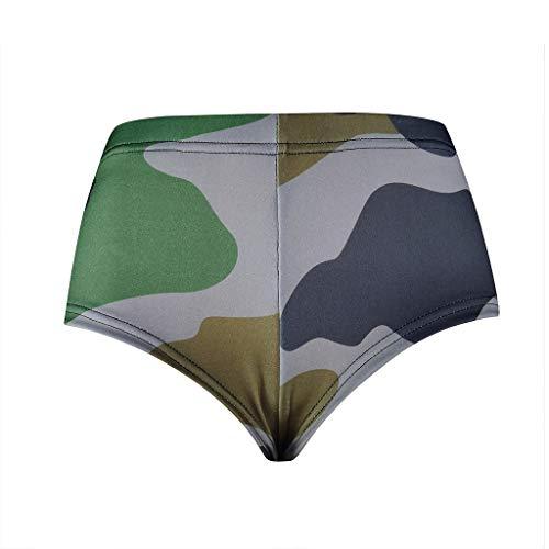 ZHANSANFM Sport Shorts Damen Mädchen Camouflage Sportshorts Sweatshorts Elegant High-Waist Leggings Sommer Atmungsaktive Schnelltrocknend Jogginghose Yoga Shorts (XL, Mehrfarbig-2)