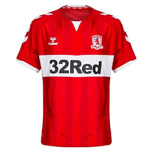 hummel 2018-2019 Middlesbrough Home Football Soccer T-Shirt Trikot