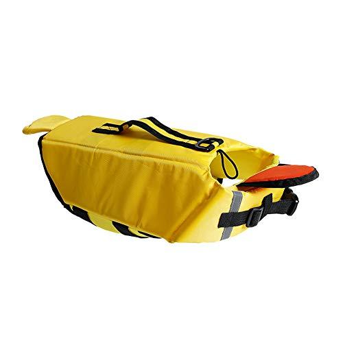 Chaleco salvavidas para perro con forma de pato, chaleco de natacin, ayuda para surf, barco, suministros para mascotas, color amarillo