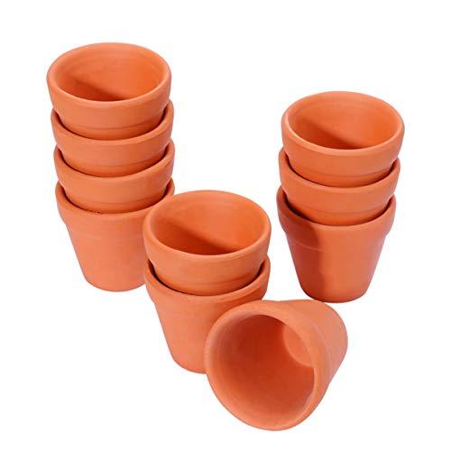 OUNONA 陶器鉢 ミニ 植木鉢 多肉植物鉢 フラワーポット ガーデン ホーム 卓上 植物鉢 10個入り 4.5x4cm