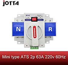 2P 63A 230V MCB Type White Color Dual Power Automatic Transfer Switch ATS