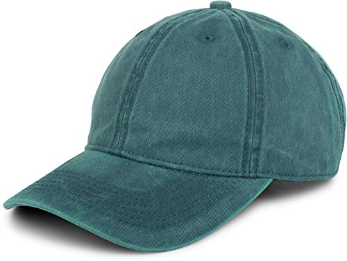 styleBREAKER 6-Panel Vintage Cap im Washed, Used Look, Baseball Cap, verstellbar, Unisex 04023054, Farbe:Petrol