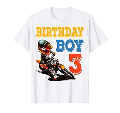 3 años de edad Motocross MX Dirt Bike 3er regalo de fiesta Camiseta