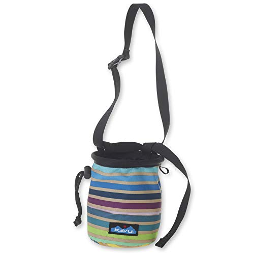 KAVU Peak Seeker Chalk Bag for Rock Climbing, Gymnastics, and Weightlifting - Summer Stripe