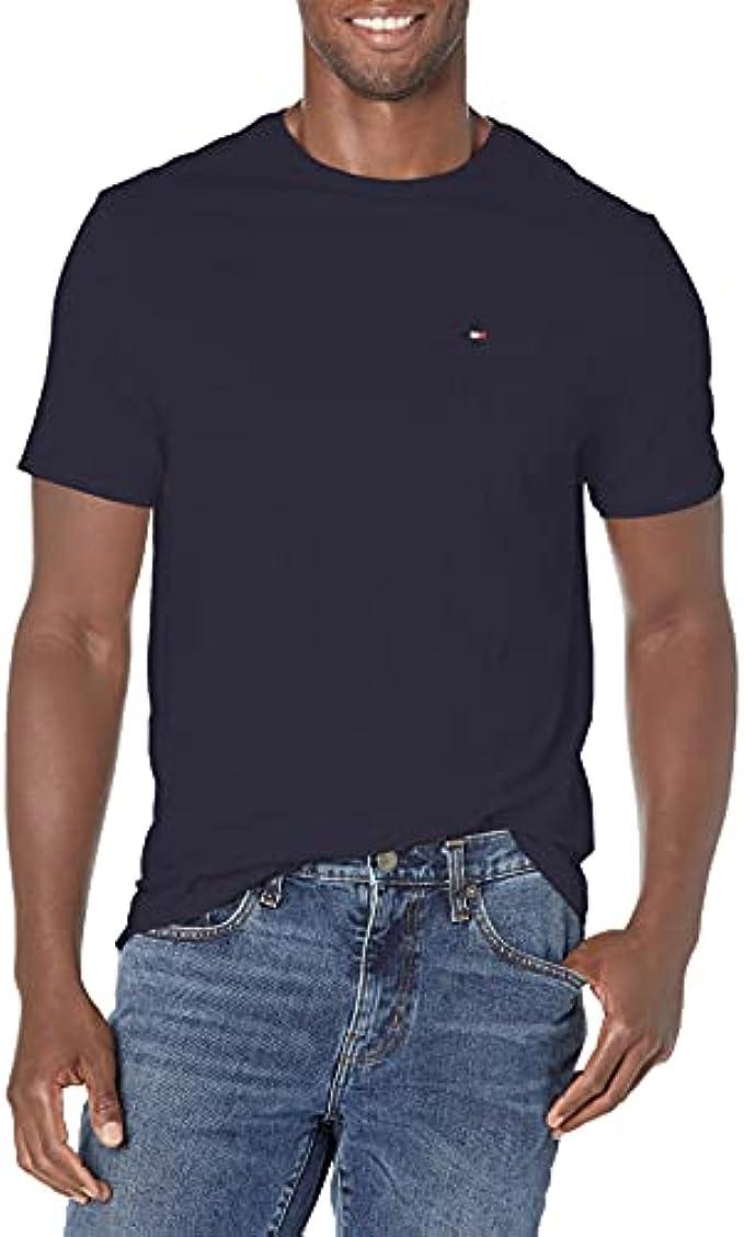 Tommy Hilfiger Men's Regular T Shirt with Pocket