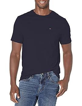 Tommy Hilfiger Men s Short Sleeve Crewneck T Shirt with Pocket Navy Blazer Large