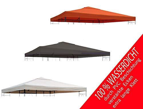 habeig Ersatzdach 340g/m² Dach EXTRA STARK PVC Beschichtung Pavillondach Wasserdicht Pavillon ca 3x3m NEU (Terrakotta #93)