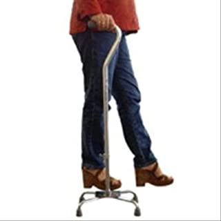 Drive Medical Quad Cane-Large Base Silver with Vinyl Grip, 12.86 Pound