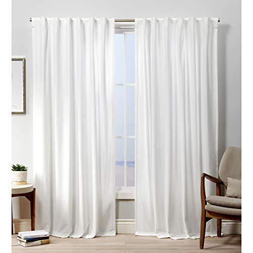 Exclusive Home Curtains Velvet Hidden Tab Top Curtain Panel, 52x84, Winter White, 2 Panels
