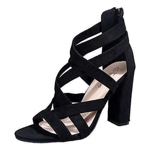 infradito con strass scarpe donna aperte estive scarp tacco nero ciabatt donna casa comod sandali ciabatte donna sandali donna numero 43 scarpe donna zeppa estiva (A17-Black,40)