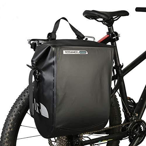 Roswheel 20L Full Waterproof Mountain Bike Bicycle Cycling Pannier Bag Back Rear Seat Trunk Bag Rack Pack Dry Series 141364