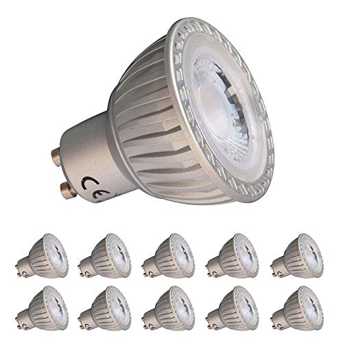 GU10 LED Lampe 7W 10x SET GRAU Glühbirne neutralweiß 630 Lumen MR16 nicht Dimmbar
