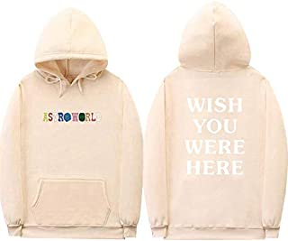 Fashionaa Astroworld Wish You were HERE Sweatshirt Youth Fleece Hoodie Casual Pullover for Unisex