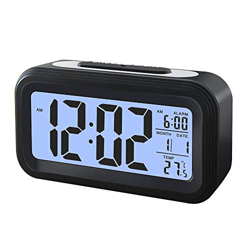 IWILCS Digital Wecker mit Extra großem Display, Smart Moderner Wecker Snooze 5 Minuten,12/24 Datumsanzeige, Temperatur, Reiseuhr für Kinder Studenten und Erwachsene