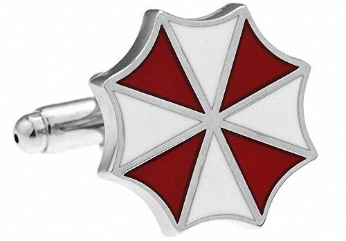 MFYS Novelty Cufflinks Red White Resident Evil Umbrella Design Copper...