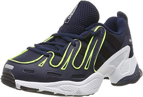 adidas EQT Gazelle, Zapatillas de Gimnasia Hombre, Azul (Collegiate Navy/Silver Met./Solar Yellow Collegiate Navy/Silver Met./Solar Yellow), 43 1/3 EU