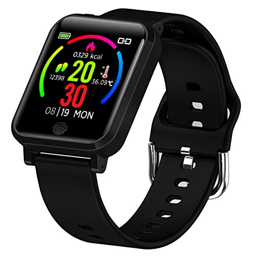Smart Watch Fitness Tracker with Heart Rate Monitor Blood Pressure...