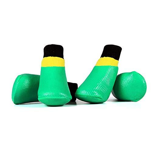 Pet Outdoor Socken Schuhe 4 Stücke Kleine Große Hund Wasserdichte Anti Skid Trainingsschuhe Leicht Zu Reinigen