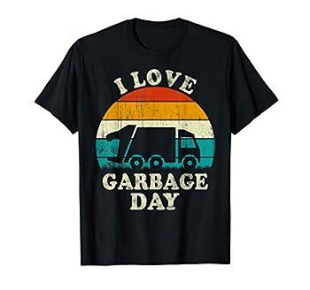 Retro Vintage Recycling Trash Kids I Love Garbage Day truck T-Shirt