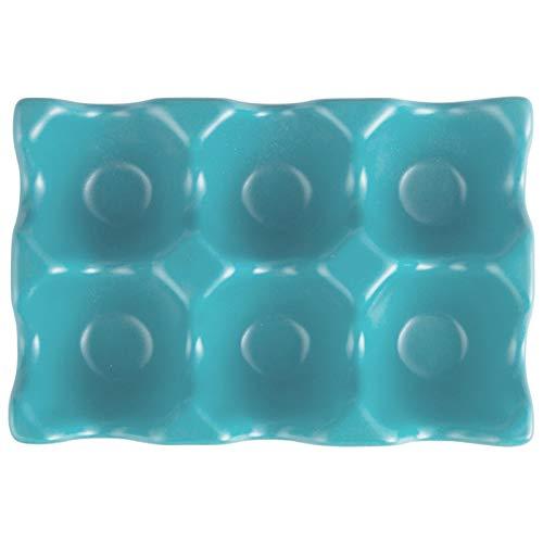Cerámica Creativa Huevo Hogar Cocina Refrigerador Almacenamiento de Huevos Gerotto en vajilla de cerámica ACDES (Size : Egg Semi Ink Green)