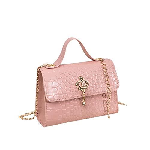 ruijiu Bolsos, gran capacidad, bolsos nuevos en forma de barril, bolsos de moda, elegantes y pausados, los mejores regalos para damas-rosa4