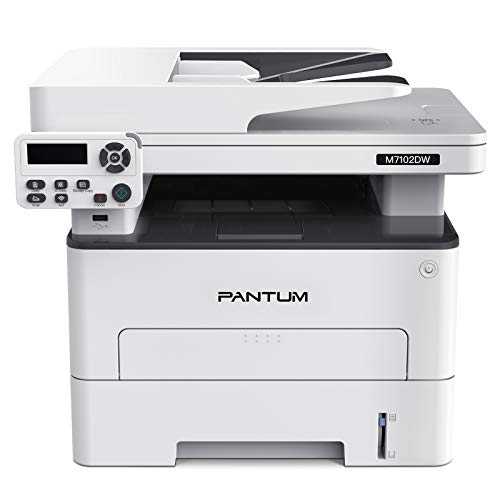 Pantum M7102DW Multifunction Monochrome Laser Printer, Printer Scanner Copier All in one with Wireless Auto-Duplex Printing
