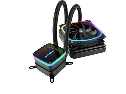 Enermax Aquafusion 120 Addressable RGB AIO CPU Liquid Cooler - 120mm Radiator, Single 120mm ARGB PWM Fan - Support Intel & AMD Ryzen - 5 Year Warranty