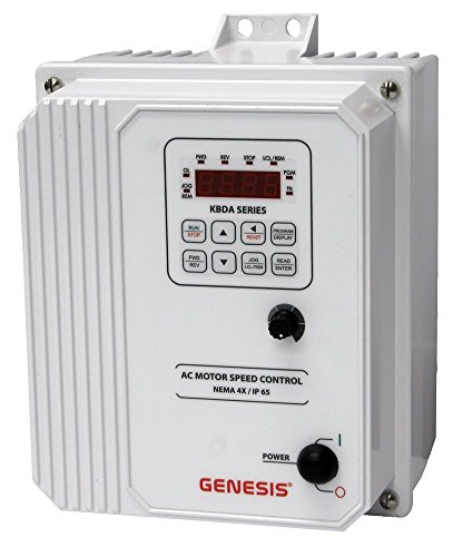 KB Electronics, 9546, KBDA-29 (White), 2;3HP, 1;3-Phase, 200-240V (Input), Nema 4X Enclosure, Variable Frequency Drives