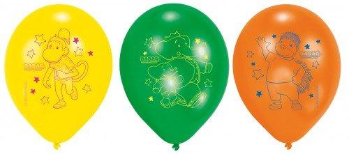 RIETHMULLER - 6 Ballons BABAR - Jaune - Orange - Vert