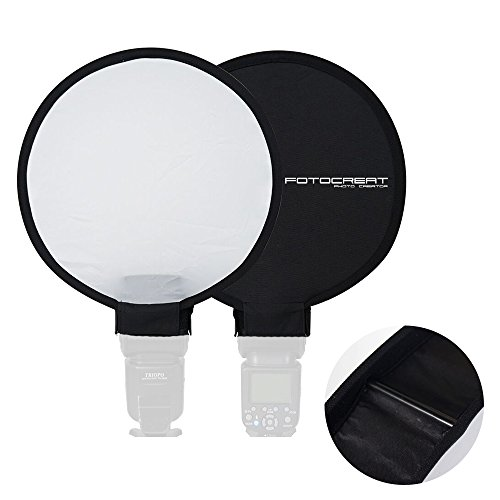 FOTOCREAT 12'(30cm) Portable Mini Round Soft Box Studio Shooting Tent Flash Diffuser Soft Box for Nikon/Canon/Sony/YongNuo/Bower/Metz/Nissin/Pentax/Sigma/Vivitar/Sunpack Speedlite